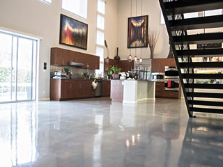 Polished Concrete Floor in a residential application